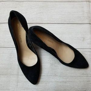 Franco Sarto Black Suede Stilettos 4 in heel sz 10